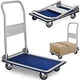 Deuba® Plattformwagen ✔bis 150 kg ✔83 x 47,5 x 73 cm ✔klappbar - Transportwagen Handwagen Transportkarre Plattform-Wagen Sackkarre Wagen