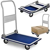 Deuba Plattformwagen | bis 150 kg | klappbar | Antirutsch Beschichtung | Transportwagen Handwagen Transportroller Sackkarre