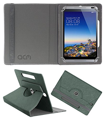 Acm Designer Rotating Leather Flip Case for Huawei Mediapad M1 Cover Stand Grey  available at amazon for Rs.189
