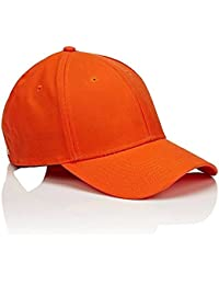 new concept fb2df 11268 SAIFPRO Men Fashionable Look Cotton Baseball Cap (Orange, Free Size)