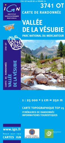 Vallée de La Vésubie / PN du Mercantour gps par IGN Institut Géographique National