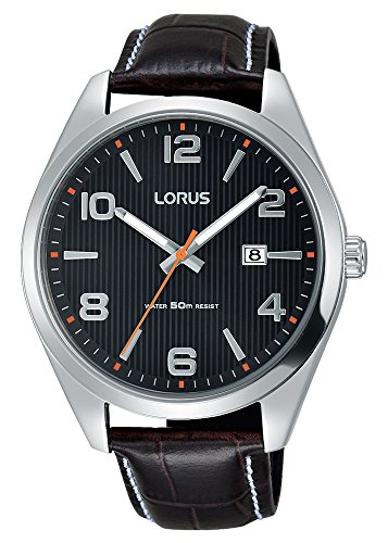 Lorus Mens Analogue Classic Quartz Watch with Leather Strap RH957GX9