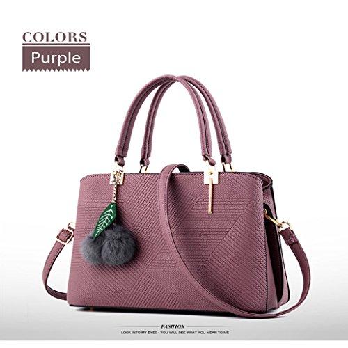 HUAYUN, Borsa a zainetto donna Purple