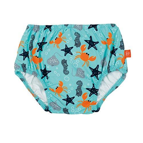LÄSSIG Baby Schwimmwindel Badewindel wiederverwendbar waschbar Auslaufschutz Junge Mädchen UV-Schutz 50+/Splash & Fun Baby Swim Diaper, Star Fish, 18 Monate, mehrfarbig