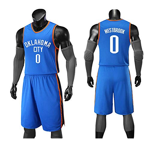 WSSW Sport-Jerseys Basketball-Uniform, Oklahoma City Thunder 0, Neue Urbane Version des Trikots, Basketball-Jersey Aus Neuem Stoff