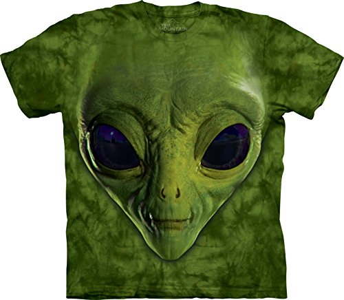 Green Alien Face Bambino Large Fantasy Unisex T Shirt The Mountain