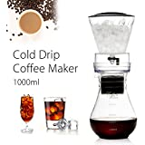 Veena 1000Ml Cold Iced Drip Brew Home Coffee Maker Pot Pour Over Coffeemaker Glass