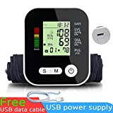 Expower Monitor di pressione sanguigna braccio superiore, misura completamente automatica con display LCD digitale Custodia portatile per rilevatore di battito cardiaco