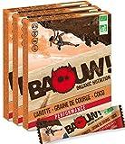 BAOUW! Organic Nutrition -CAROTTE GRAINE DE COURGE COCO- Barres nutritionnelles & énergétiques aux légumes et sel de Guérande -100% BIO pour le sport ou un encas sain -vegan-sans gluten-12 barres x30g