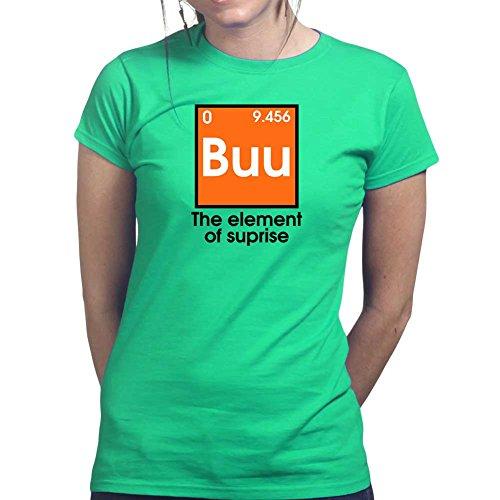 Womens Buu Boo Halloween Funny Costume Ladies T Shirt (Tee, Top) Irish Green