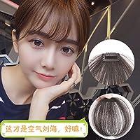 XNWP-Capelli bangs wig bangs femmina mini air sottile invisibile libera Liu Qi, real,marrone chiaro