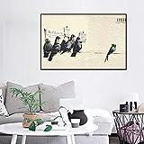 mmzki Drucke Wandbilder Graffiti Pigeon Poster Kunstwerk Dekoration Leinwand Home Malerei Abstrakte Nordischen Stil Moderne Für Wohnzimmer X 60X80 cm