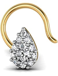 Avsar New Collection 18K (750) Yellow Gold and Diamond Nose Ring