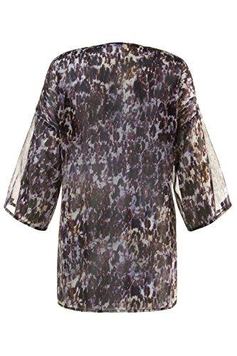 Ulla Popken Femme Grandes tailles Veste facon blouse 705003 Multicolore