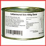 Hausmacher Dosenwurst 4 Dosen je 400g Leberwurst fein Premium Qualität