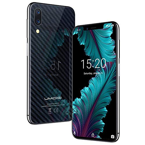 Flaggschiff UMIDIGI One, Android 8.1 Smartphone ohne Vertrag 4G 4GB + 32GB(256GB erweiterbar) Dual SIM Handy 5.9 Zoll 19:9 Notch-Display, Triple Kameras(16MP+12MP+5MP), Quick Charge - Schwarz