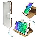 Doogee Y6 Max/ 3D Smartphone Tasche / Schutzhülle mit 360° Dreh und Standfunktion - 360 Weiß Nano XXL