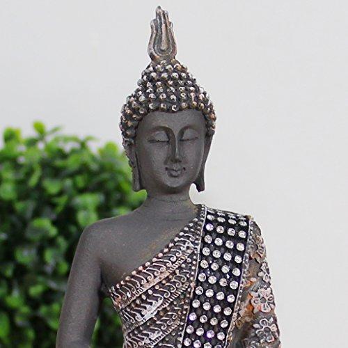 Buddha Sitzend mit Teelicht Deko-Statue - 2