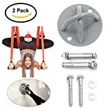 Supporto da soffitto, Suspension Trainer da parete X-Mount Anchor per attrezzo Trainier Sling and Suspension Home Fitness Palestra (2 set)