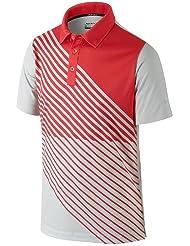 NIKE JUNIOR chico GRAPHIC POLO Grey/bolsa de deporte, color  - gris, rojo, tamaño XL