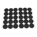 Anti Rutsch Gummi Selbstklebend Bodenschützer,30 Stücke Schwarz Tenacious Adhesive Möbel Gummifüße für Sofa Tisch Stuhl Gummifüße Pad