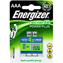 Energizer HR 03 AAA Pile Micro 850 mAh, confezione da 2