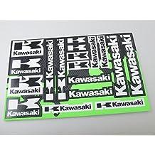 Kawasaki Stickers Decals vinilo de 30x20cm con protección extra en la parte superior