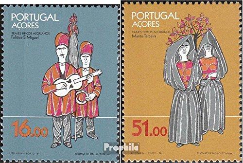 Kostüm Briefmarke - Prophila Collection Azoren (Portugal) 362-363 (kompl.Ausg.) 1984 Kostüme (Briefmarken für Sammler)