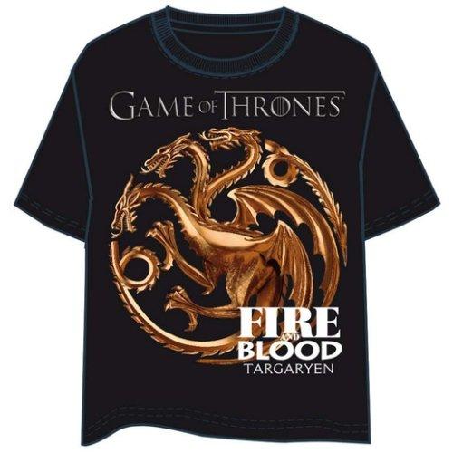 HBO Camiseta Juego de Tronos Logo Targaryen Talla M