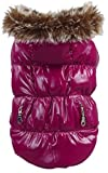 La vogue Hundemantel Wintermantel Hundejacke Hundepullover Hundekleidung mit Kaputze Violett Bust24-26cm