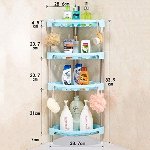 XOTF Dreieck Badezimmer Regale freistehend, 5-Tier-Free Bohren Eitelkeit Regal Dusche Lagerung Ecke Ablagekorb (Farbe : H) - Tier-regal Eitelkeit