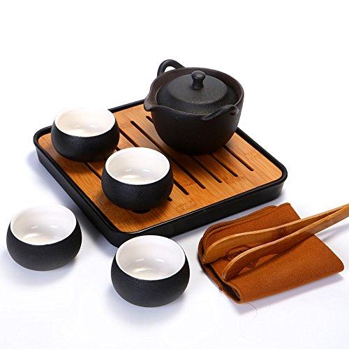 RIBLDG Keramische Teeservice Bambus Wasser Japanische Kung – Fu – Blase Taiwan – Tee – Tablett Tee Tabelle Wurde Melamin Trocken,Tea Service, Coffee Set