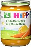 Hipp Früh-Karotten mit Kartoffeln, 6er Pack (6 x 190 g) - Bio (Bild: Amazon.de)