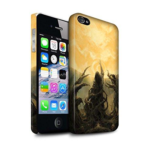 Offiziell Chris Cold Hülle / Matte Snap-On Case für Apple iPhone 4/4S / Pack 5pcs Muster / Unterwelt Kollektion Sonnengott/Reben