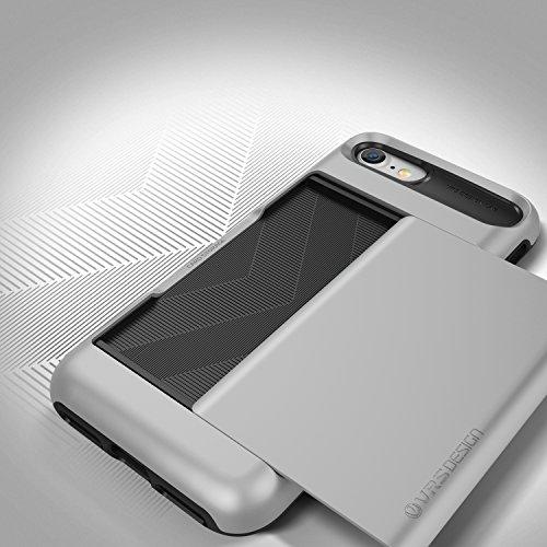 VRS Design Damda Glide Backcase Handy-Hülle | Apple iPhone 7 Plus | Polycarbonat / TPU in Crimson Red | Schutz-Cover Smartphone-Case Light Silver