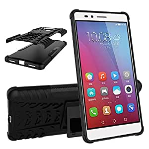 Delight Defender Tough Hybrid Armour Shockproof Hard PC + TPU with Kick Stand Rugged Back Case Cover For honor 5x