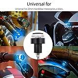 #6: Fabtec Bike Handle Bar End LED Blinker Indicator Light with Stylish Finish (Set Of 2) (Blue & White)