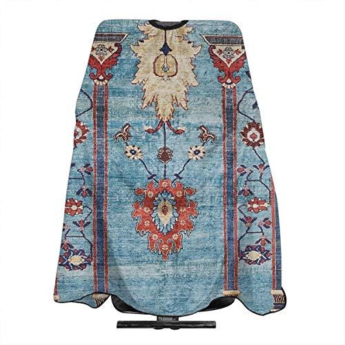 Antike Persische Seide Teppich Professioneller Friseurumhang Friseursalon Friseurschürze groß 167,6 x 139,7 cm -
