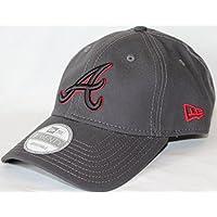 Atlanta Braves New Era 9Forty MLB Shore Pop Adjustable Hat Cappello - Graphite