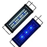 Lumiereholic Aquarien Eco Aquariumdeckel Lampe Aufsetzleuchte Blau Weiß Aquairumleuchten Mini Beleuchtung 35cm-55cm