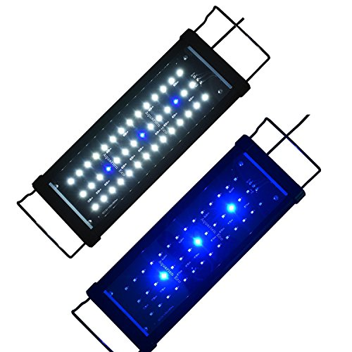 Lumiereholic Aquarium Beleuchtung LED Fische Tank Beleuchtung Aufsetzleuchte Lampe 30-200cm (30CM) (Led-licht 60 Aquarium)