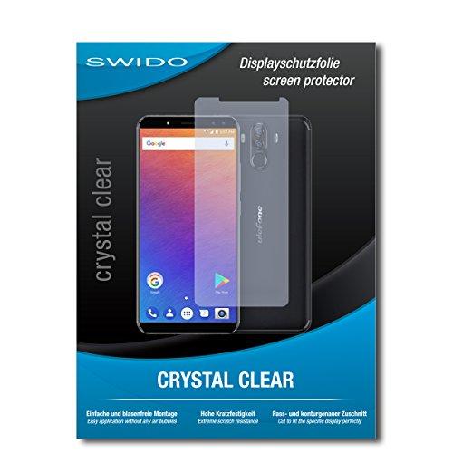 SWIDO Schutzfolie für Ulefone Power 3S [2 Stück] Kristall-Klar, Hoher Härtegrad, Schutz vor Öl, Staub & Kratzer/Glasfolie, Bildschirmschutz, Bildschirmschutzfolie, Panzerglas-Folie