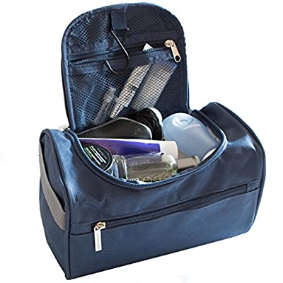 Hanging Men's Travel Toiletry Bag Wash Bag Shaving Dopp Kit - Perfect For Grooming & Travel Size Toiletries