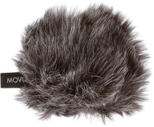 Movo WS-G1 manicotto antivento in pelliccia, da esterni, per microfoni piccoli e compatti fino a 63.5mm X 40mm (L x D) per Zoom H1, Apogee MiC e altri (grigio scuro)