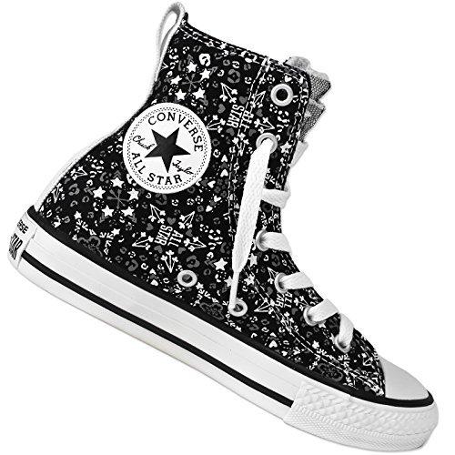 CONVERSE ALL STAR PARTY HI GRAPHIC CHUCK TAYLOR HI SNEAKER STERNE HERZEN 647723C, Schuhgröße:EUR 33;Farbe:Schwarz