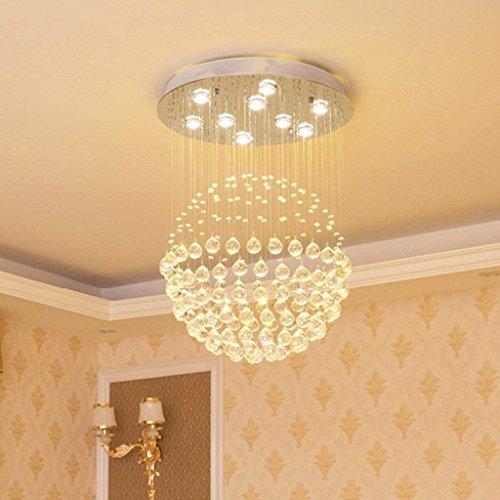 CRL Innenbeleuchtung Kronleuchter Kristallleuchter Moderne Wohnzimmer Luxury Air Boden Villa Große Kronleuchter Haushaltsbeleuchtung,40 * 60 cm -