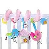 TOYMYTOY Bebé infantil actividad espiral cama cochecito juguete mono...