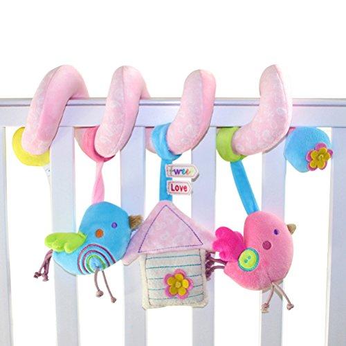 TOYMYTOY Bebé infantil actividad espiral cama cochecito juguete mono elefante peluche juguete educativo