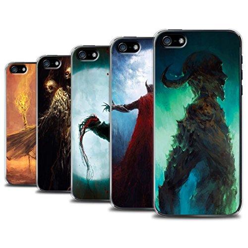 Offiziell Chris Cold Hülle / Case für Apple iPhone SE / Dramargu/Vollmond Muster / Dämonisches Tier Kollektion Pack 6pcs