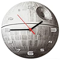 SuperDuperDecor STAR WARS CLOCK - Glow-in-the-Dark - DEATH STAR - Wall Clock
